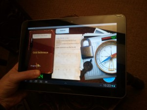Android App running on the Samsung Galaxy Tab 10.1